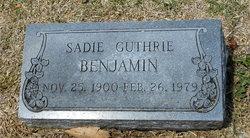 Sadie <I>Guthrie</I> Benjamin