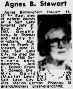 Agnes <I>Birmingham</I> Stewart