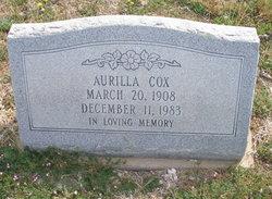 Aurilla Alice <I>Kleeman</I> Ballou Cox