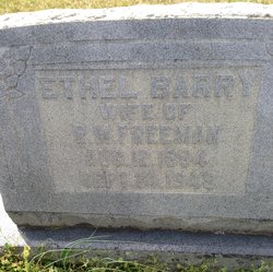 Ethel <I>Barry</I> Freeman