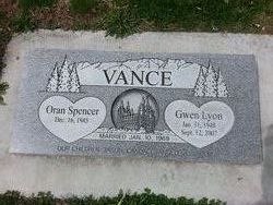 Gwen <I>Lyon</I> Vance