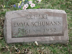 Emma Rebecca <I>Tiefenthal</I> Schumann