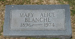 Mary Alice <I>Oliver</I> Blanche
