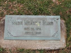 Marie <I>McArdle</I> Bland