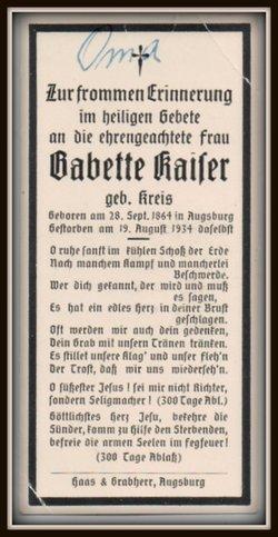 Babette <I>Kreis</I> Kaiser
