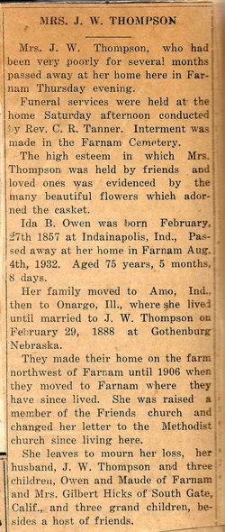Ida B O Thompson
