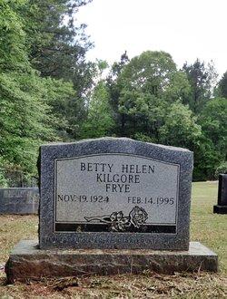 Betty Helen <I>Kilgore</I> Frye