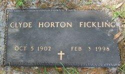 Clyde <I>Horton</I> Fickling