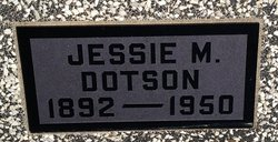 Jessie M <I>Hulet</I> Dotson