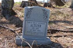 Sarah Belle <I>Nuckles</I> Altizer