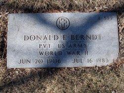 Donald E Berndt