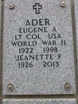 Jeanette F Ader