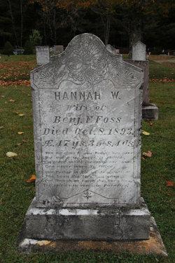 Hannah W. <I>Feeney</I> Foss
