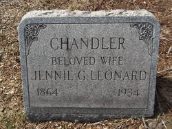 "Jane G. ""Jennie"" <I>Leonard</I> Chandler"