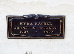 Myra Rachel <I>Johnston</I> Crissey