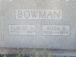 Albert Harlin Bowman
