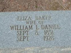 Eliza <I>Baker</I> Daniel