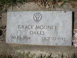 Grace J <I>Hook Mooney</I> Oakes