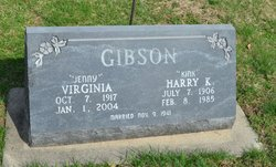 """Virginia """"Jenny"""" <I>Hall</I> Gibson"""