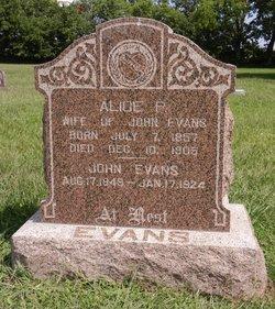 Alice P <I>Earnhart</I> Evans