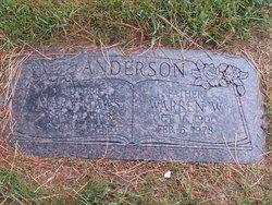 Mary <I>Haws</I> Anderson