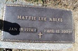 Hattie Lee <I>Scott</I> Ables