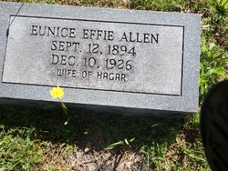 Eunice Effie <I>Bridges</I> Allen