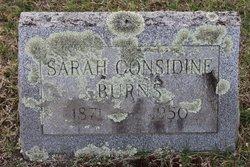 Sarah <I>Considine</I> Burns