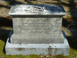 Mrs Harriet Malvina <I>Howe</I> Wilson