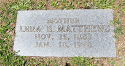 Lera Eckley <I>Bagwell</I> Matthews