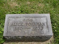 Alice Jane <I>Hocking</I> Foreman