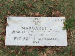 Margaret L Alderman