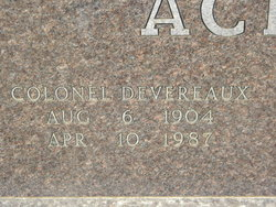 Colonel Devereaux Acker