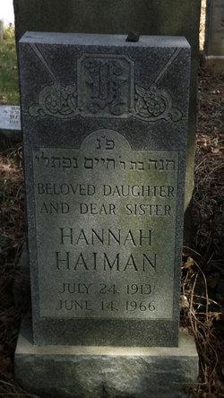 Hannah Haiman