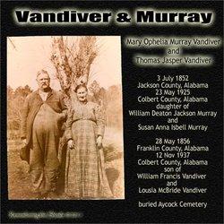 Mary Ophelia <I>Murray</I> Vandiver