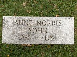 """Anne """"Annie"""" <I>Norris</I> Sohn"""