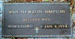 Ann <I>Newton</I> Simpson