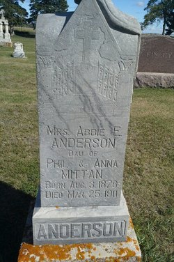 Abbie E <I>Mittan</I> Anderson