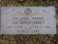 Ann <I>Baxley</I> Causey