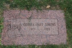 Odessa Faye <I>Dowdy</I> Simons