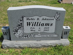 Mable Bell <I>Johnson</I> Williams
