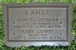 Mary Rebecca <I>Lowry</I> Kahle