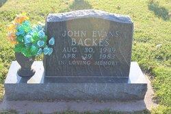 John Evans Backes