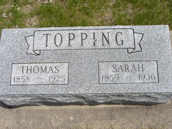 "Sarah E ""Sadie"" <I>Smith</I> Topping"