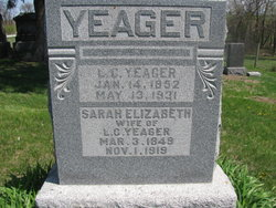 Sarah Elizabeth <I>Glenn</I> Yeager