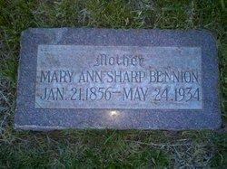 Mary Ann <I>Sharp</I> Bennion