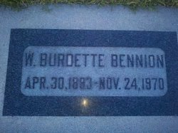 Walter Burdette Bennion