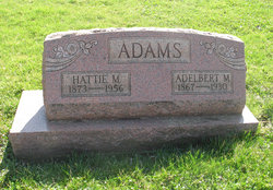 "Hannah Mosetta ""Hattie"" <I>Joslin</I> Adams"