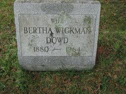 Bertha <I>Wickman</I> Dowd