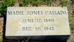Madie Sue <I>Jones</I> Cassada